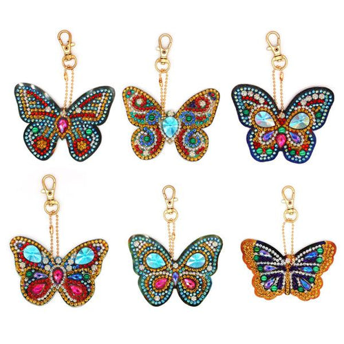 Elegant Butterflies - 5D Diamond Key Ring Collection-EasyWhim
