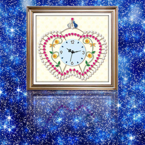Elegant Clock - DIY 5D Diamond Painting Clocks-EasyWhim