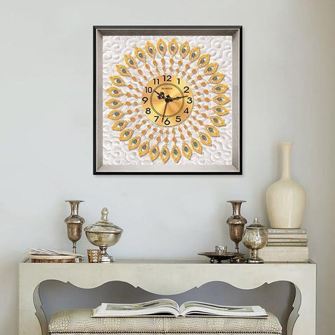 Elegant Gold Clock - DIY 5D Diamond Painting Clocks-EasyWhim