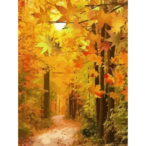 Fall - DIY Oil Painting on Canvas - Paint By Numbers-EasyWhim