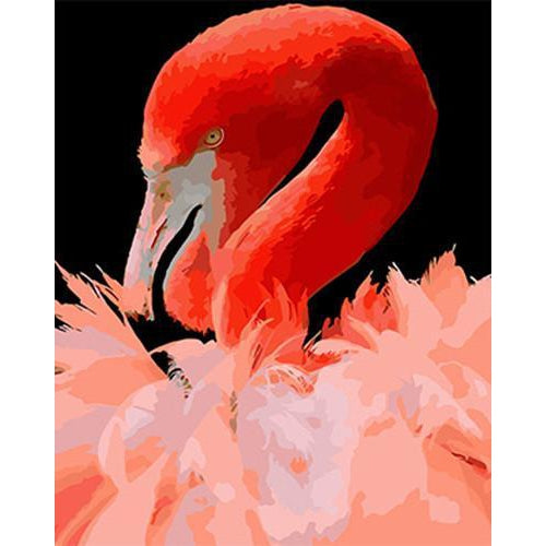 Flamingo Face - DIY Oil Painting on Canvas - Paint By Numbers-EasyWhim