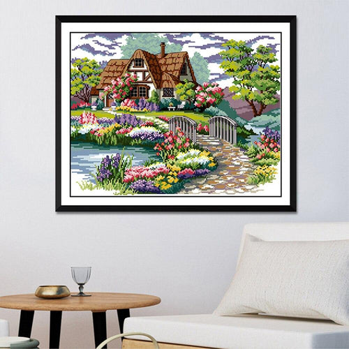 Floral Home - Cross Stitch Kit-EasyWhim