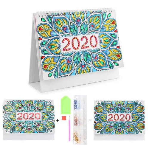 Flower Burst - DIY Diamond Painting 2020 Calendar-EasyWhim