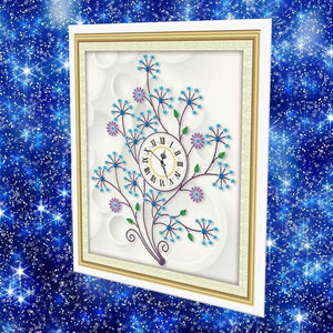 Flower Clock - DIY 5D Diamond Painting Clocks-EasyWhim