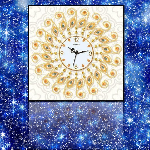 Golden Blings Clock - DIY 5D Diamond Painting Clocks-EasyWhim