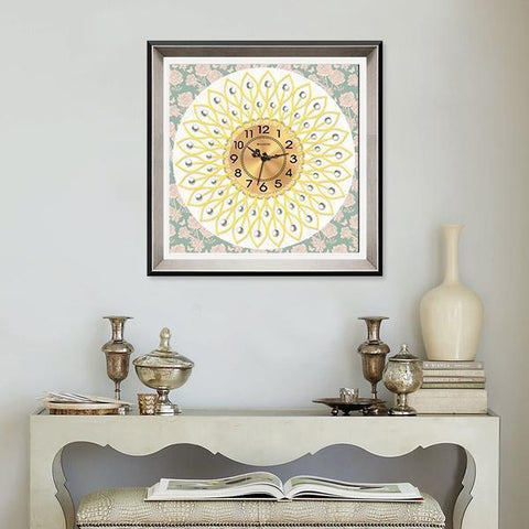 Gorgeous Pattern Clock - DIY 5D Diamond Painting Clocks-EasyWhim