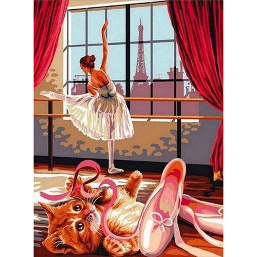 I Love Ballet - DIY Oil Painting on Canvas - Paint By Numbers-EasyWhim