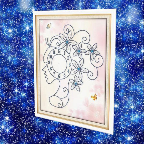 Lady Clock - DIY 5D Diamond Painting Clocks-EasyWhim