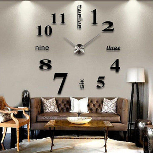Large Wall Clock 3D - Home Decor-EasyWhim
