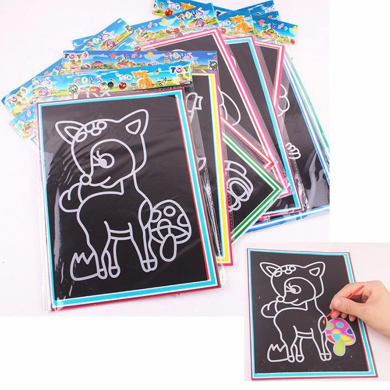 Magic Color Scratch Art for Kids (10pcs Pack) - DIY Scratch Art-EasyWhim