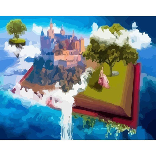 Magical Book - DIY Oil Painting on Canvas - Paint By Numbers-EasyWhim