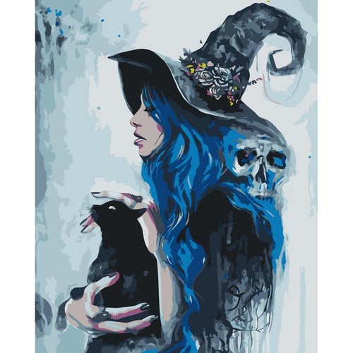 Magnificent Witch - DIY Oil Painting on Canvas - Paint By Numbers-EasyWhim