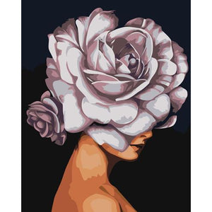 Miss Rose - DIY Oil Painting on Canvas - Paint By Numbers-EasyWhim