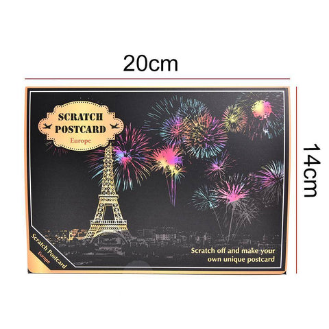 Night View Cards (4 pack) - DIY Scratch Art-EasyWhim