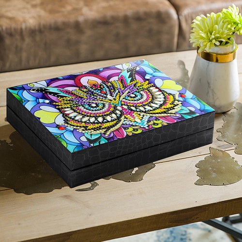 Owl Legend - DIY Diamond Painting Jewelry Box-EasyWhim