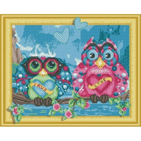 Owls - DIY 5D Diamond Painting - 3D Drill-EasyWhim