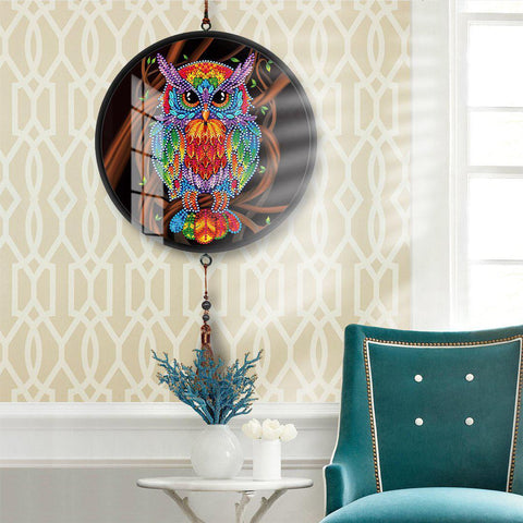 Image of Power Owl - DIY Diamond Painting Wall Pendants-EasyWhim