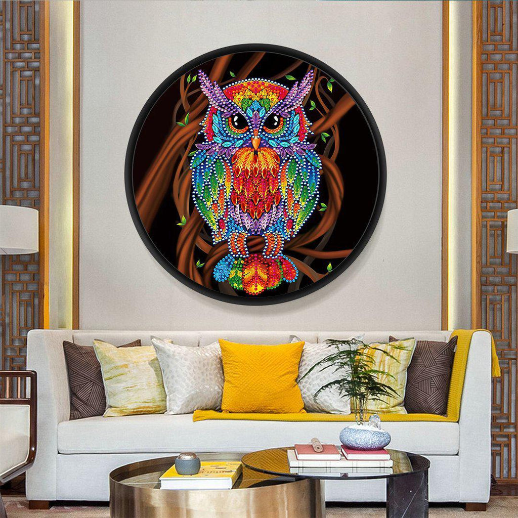 Power Owl - DIY Diamond Painting Wall Pendants-EasyWhim