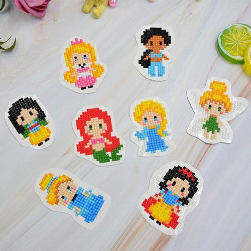 Princess Stickers (8 Pack) - 5D Diamond Painting-EasyWhim