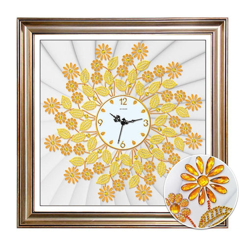 Radial Flower Clock - DIY 5D Diamond Painting Clocks-EasyWhim
