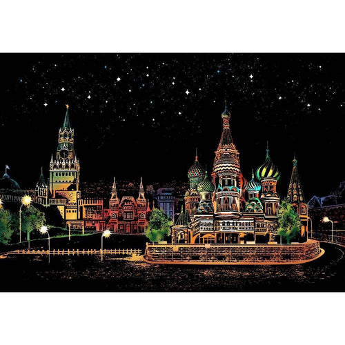 Red Square Moscow - DIY Scratch Art-EasyWhim