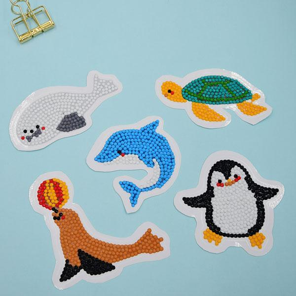 Sea Creature Stickers (5 Pack) - 5D Diamond Painting-EasyWhim