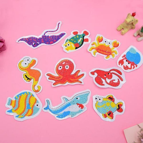 Sea Life Stickers (10 Pack) - 5D Diamond Painting-EasyWhim