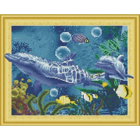 Sea World - DIY 5D Diamond Painting - 3D Drill-EasyWhim
