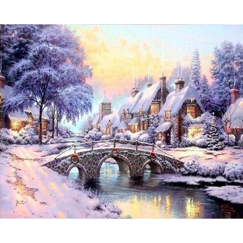 Snow Bridge - Cross Stitch Kit-EasyWhim