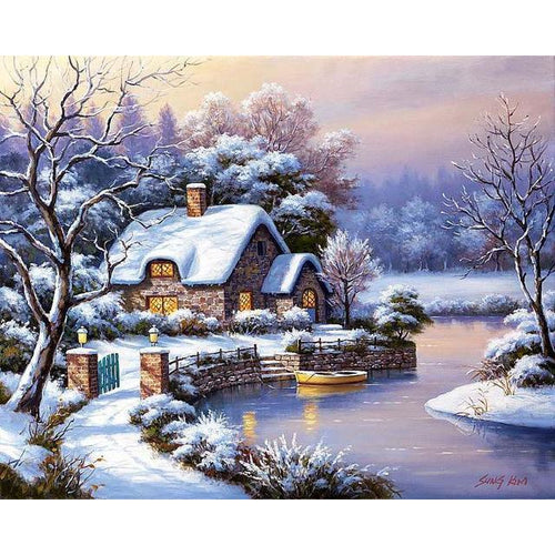Snow Home - Cross Stitch Kit-EasyWhim