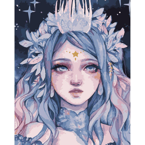 Snow Queen - DIY Oil Painting on Canvas - Paint By Numbers-EasyWhim