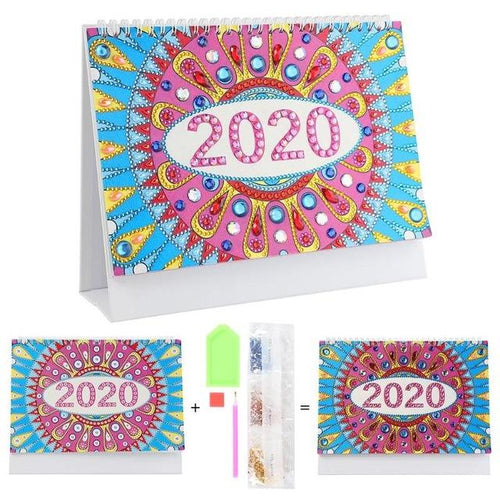Spiral Bloom - DIY Diamond Painting 2020 Calendar-EasyWhim