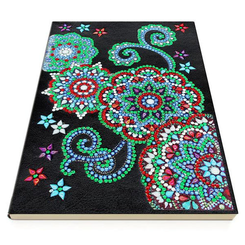 Stellar Flowers - Diamond Painting A5 Notebook-EasyWhim
