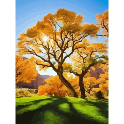 Sun Tree - DIY Oil Painting on Canvas - Paint By Numbers-EasyWhim