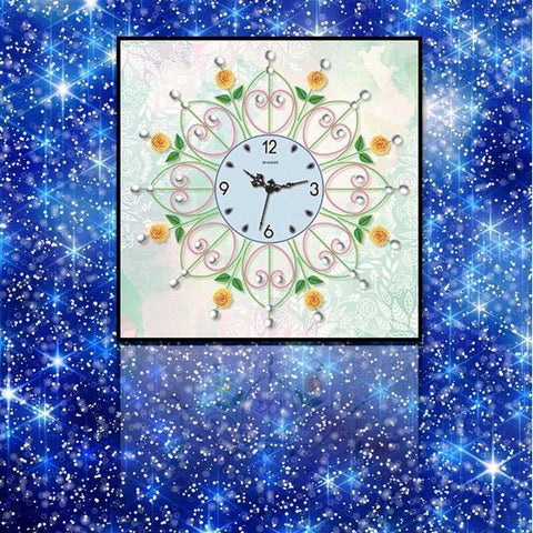 Sunflower Pattern Clock - DIY 5D Diamond Painting Clocks-EasyWhim
