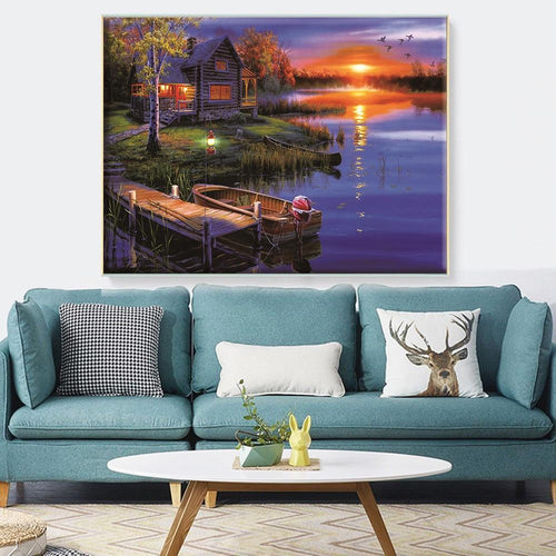 Sunset View - Cross Stitch Kit-EasyWhim