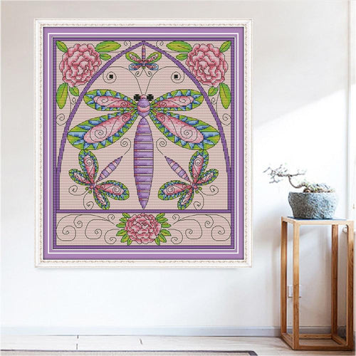 Symbolic Butterflies - Cross Stitch Kit-EasyWhim