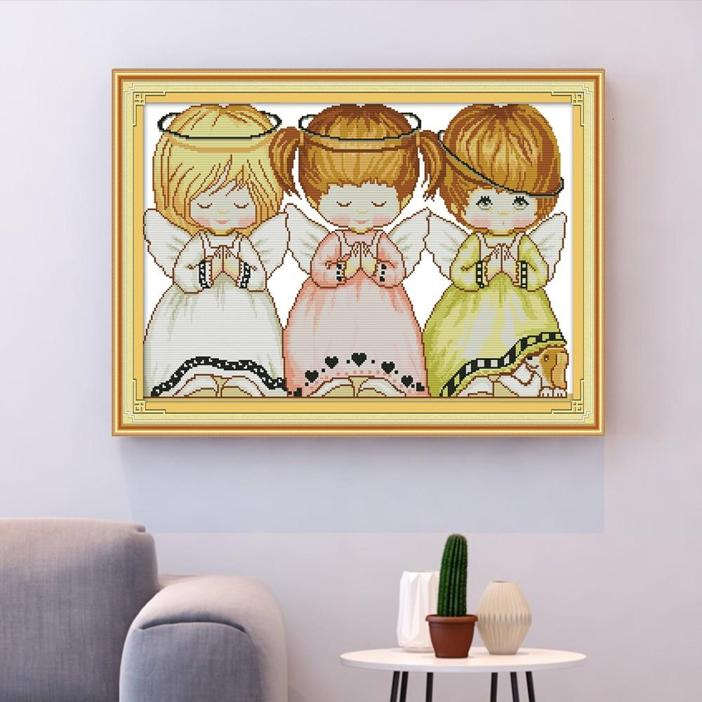 Three Angels - Cross Stitch Kit-EasyWhim