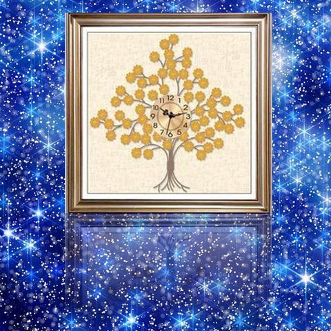 Tree Clock - DIY 5D Diamond Painting Clocks-EasyWhim