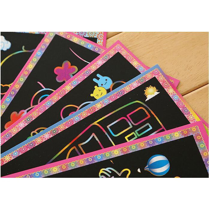 Two-in-One Magic Art (5pcs Pack) - DIY Scratch Art-EasyWhim