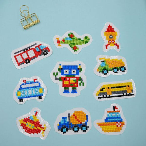Vehicles Stickers (10 Pack) - 5D Diamond Painting-EasyWhim
