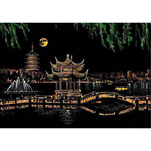 West Lake - DIY Scratch Art-EasyWhim