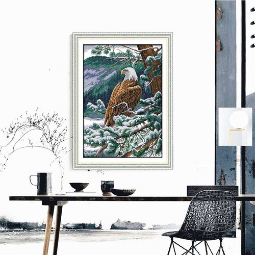 Winter Bald Eagle - Cross Stitch Kit-EasyWhim