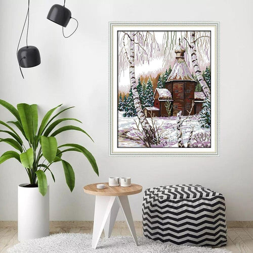 Winter Hut - Cross Stitch Kit-EasyWhim