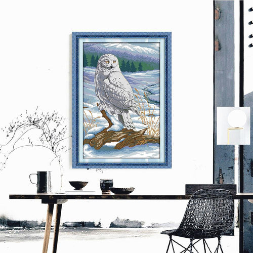 Winter Owl - Cross Stitch Kit-EasyWhim