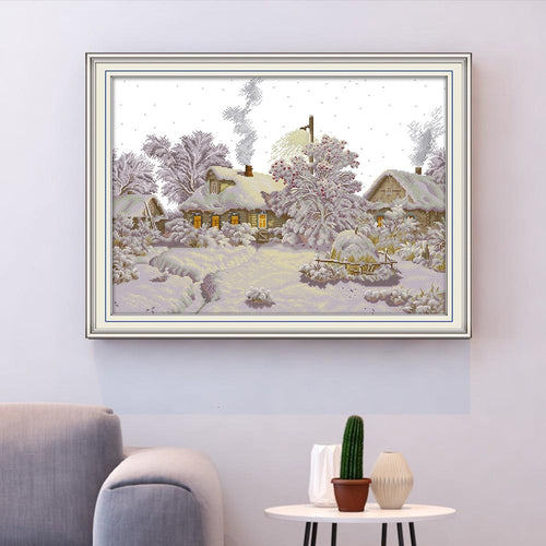Winter Village - Cross Stitch Kit-EasyWhim