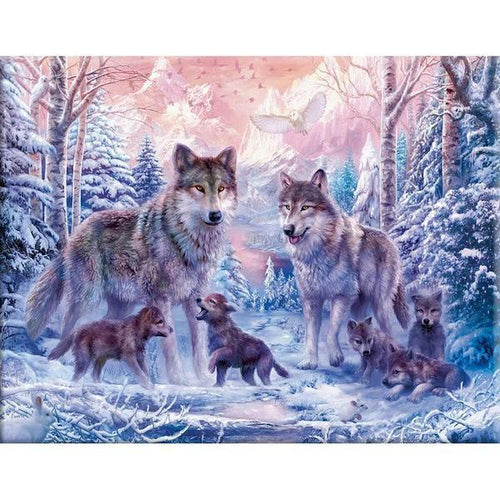 Wolf Pack - Cross Stitch Kit-EasyWhim