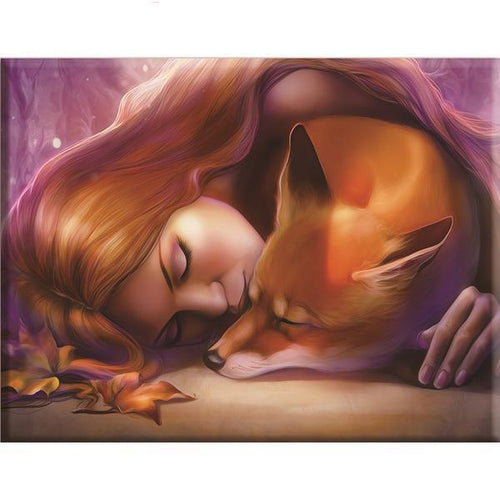 Woman's Fox - Cross Stitch Kit-EasyWhim