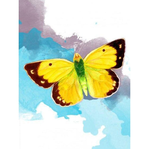 Yellow Butterfly - DIY Oil Painting on Canvas - Paint By Numbers-EasyWhim