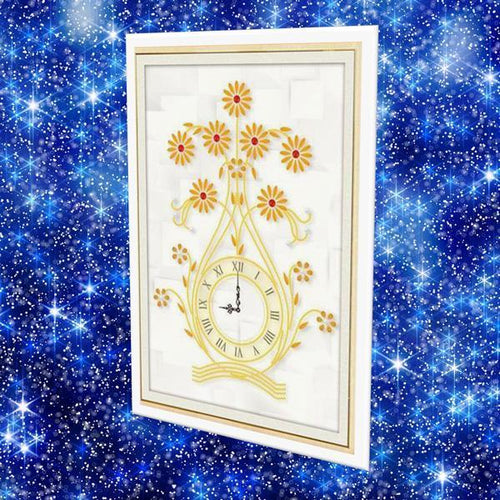 Yellow Flower Clock - DIY 5D Diamond Painting Clocks-EasyWhim
